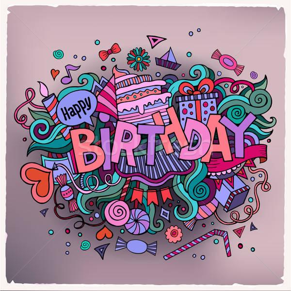 生日 手 塗鴉 分子 舞會 藝術 商業照片 © balabolka
