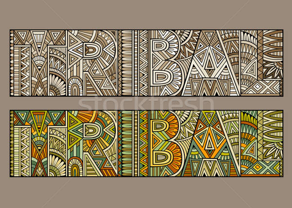 Abstract concept typography 'tribal' Stock photo © balabolka