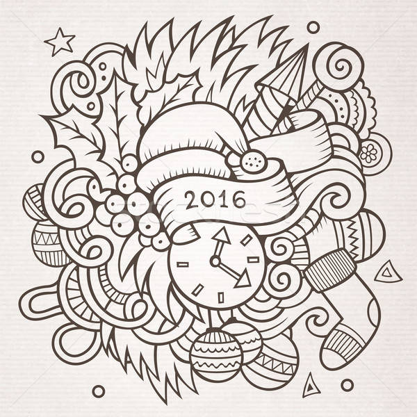 2016 nieuwjaar communie vector Stockfoto © balabolka