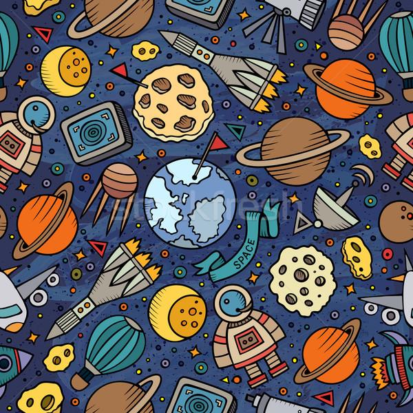 ストックフォト: 漫画 · スペース · 惑星 · シンボル · オブジェクト