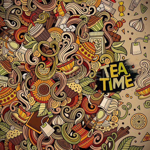 漫畫 塗鴉 咖啡館 咖啡館 插圖 商業照片 © balabolka