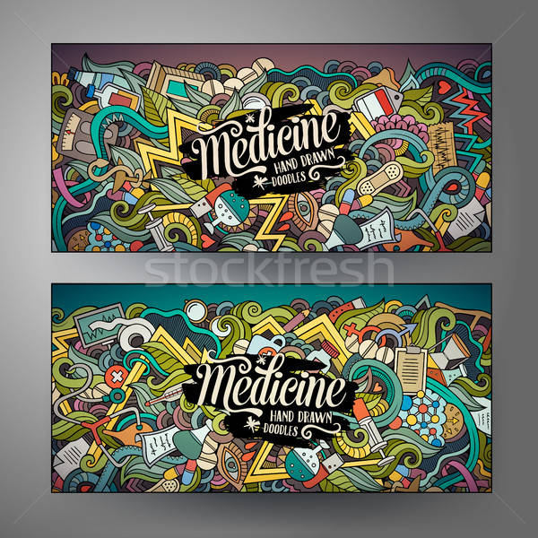 Desenho animado vetor médico banners Foto stock © balabolka