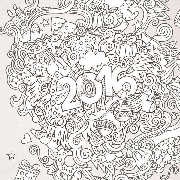 2016 年 手 要素 ベクトル ストックフォト © balabolka