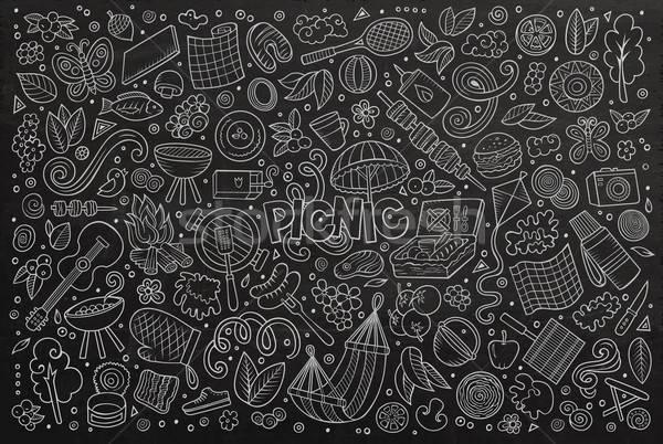 доске вектора болван Cartoon набор пикника Сток-фото © balabolka