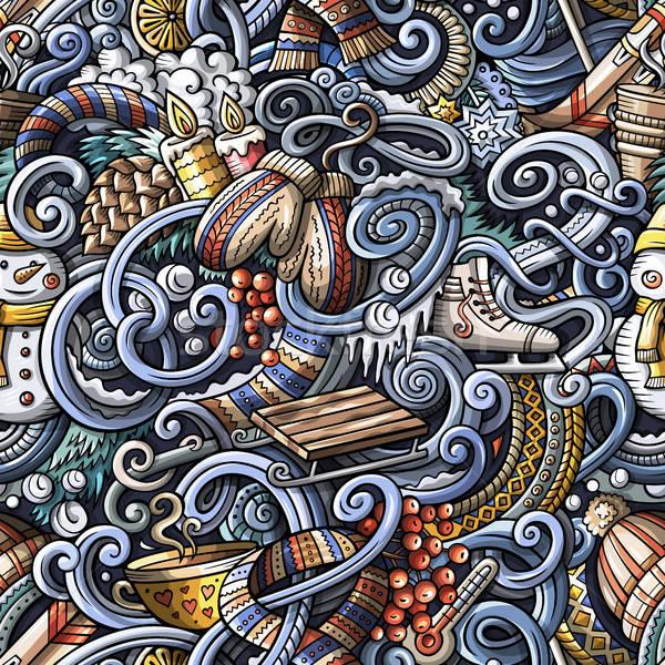 漫畫 塗鴉 冬季 可愛 商業照片 © balabolka