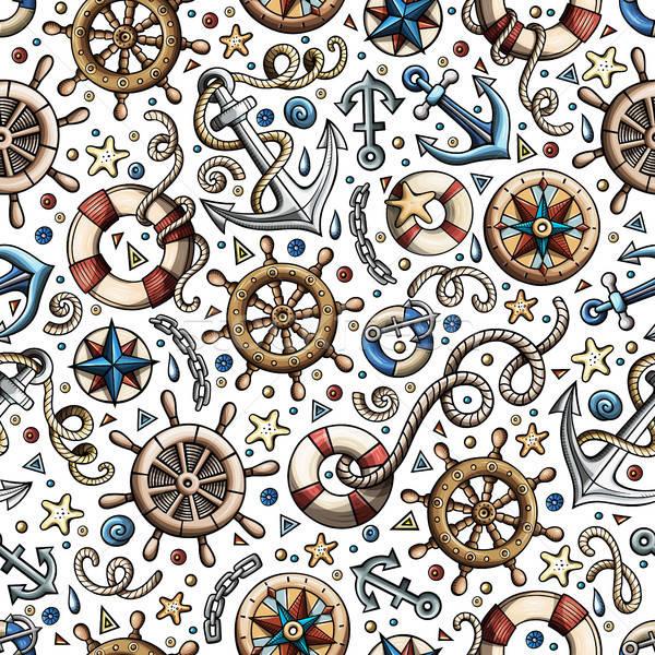 Cartoon morski morskich kolorowy szczegółowy Zdjęcia stock © balabolka