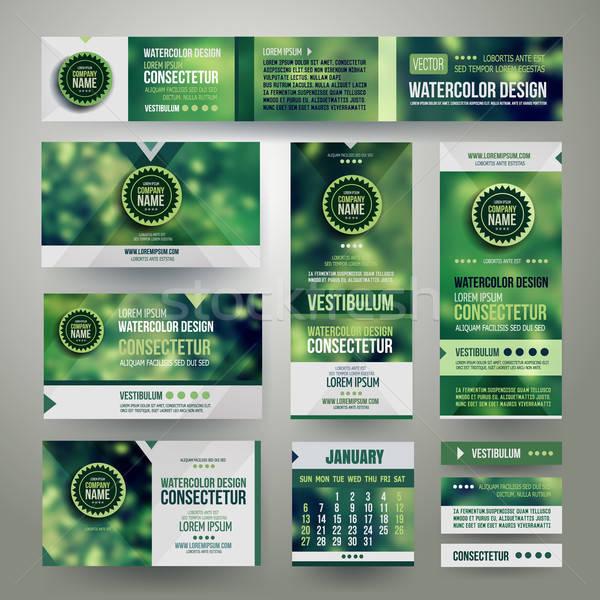 Vetor corporativo identidade templates turva abstrato Foto stock © balabolka