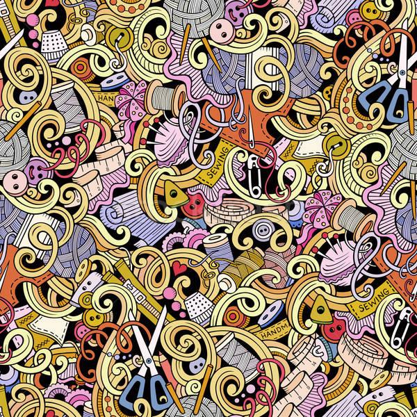 Cartoon couture coloré Photo stock © balabolka