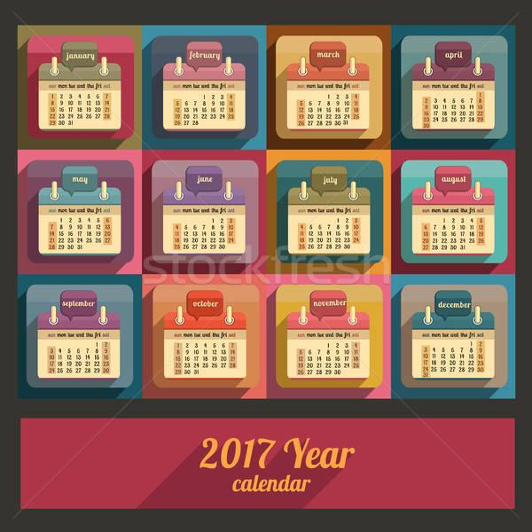 Calendario anno design english business ufficio Foto d'archivio © balabolka
