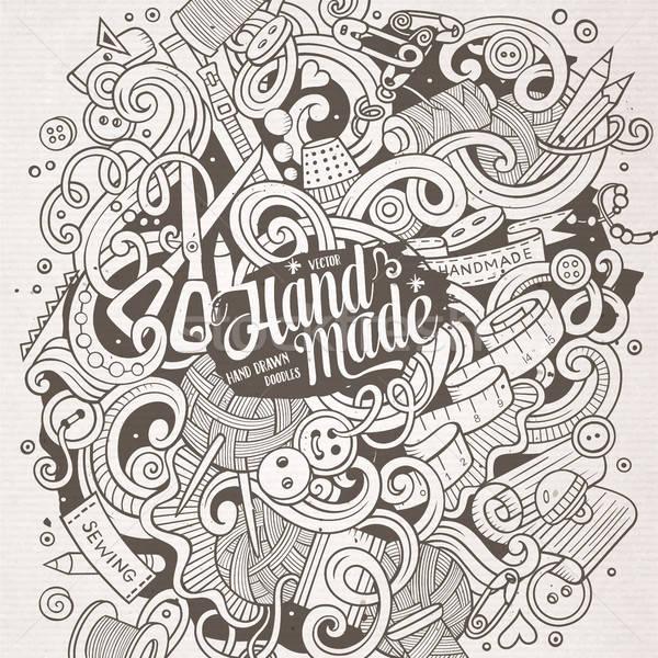 漫画 かわいい 手描き ハンドメイド 実例 ストックフォト © balabolka