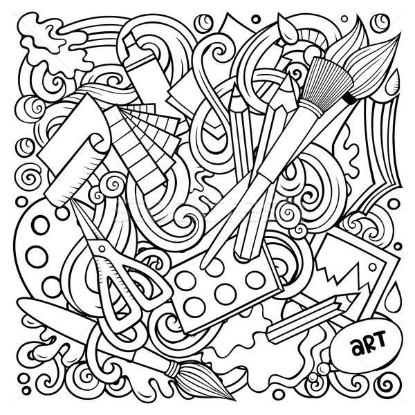 Cartoon vector doodles Art and Design illustration Stock photo © balabolka