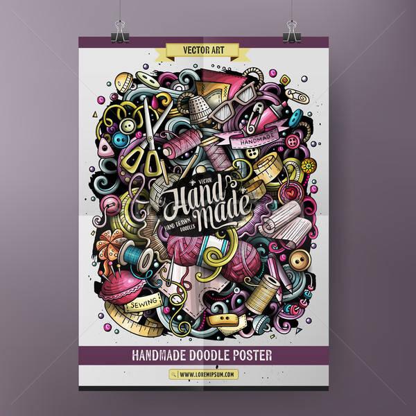 Cartoon bazgroły wykonany ręcznie plakat projektu Zdjęcia stock © balabolka
