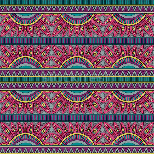 Abstract vector Tribal etnische ontwerp Stockfoto © balabolka