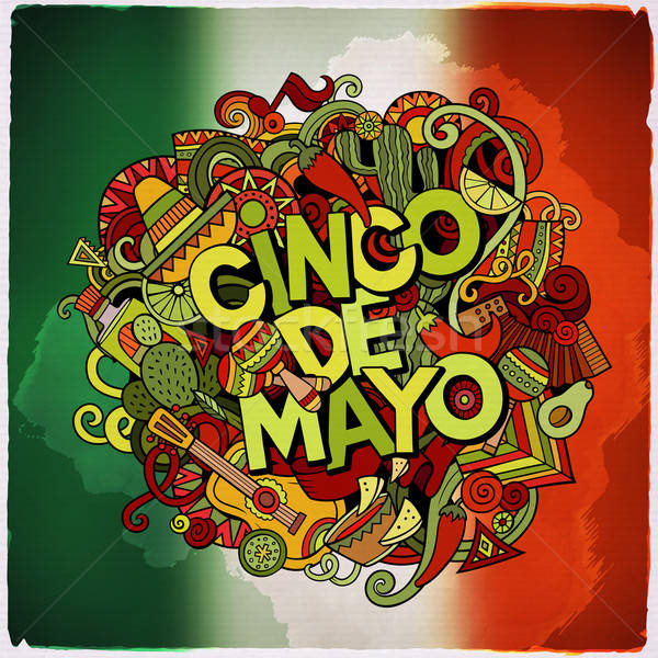 Cinco de Mayo colorful festive message Stock photo © balabolka