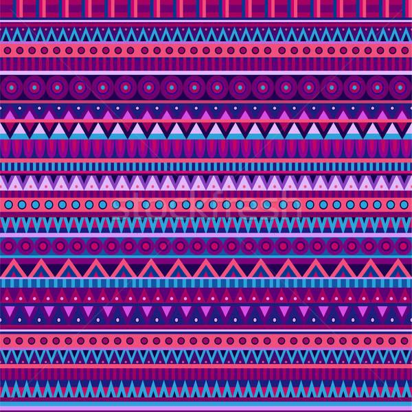 Ethnic vector various strips motifs Stock photo © balabolka
