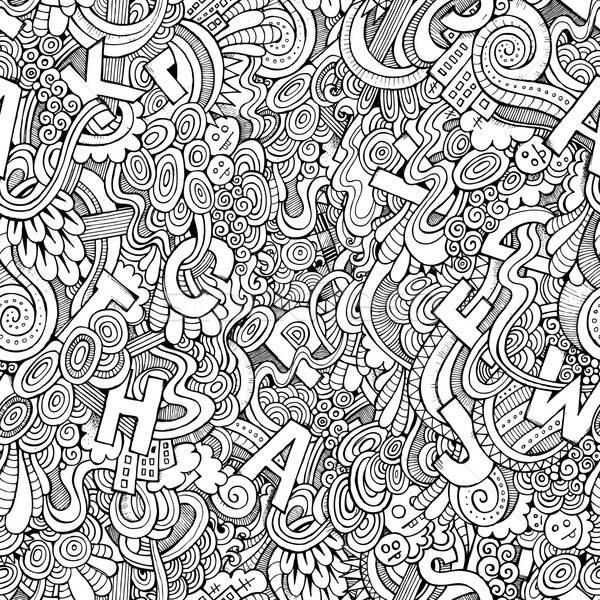 Litery streszczenie dekoracyjny bazgroły moda Zdjęcia stock © balabolka