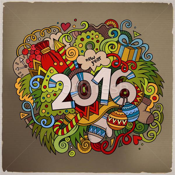 2016 nieuwjaar hand communie vector Stockfoto © balabolka