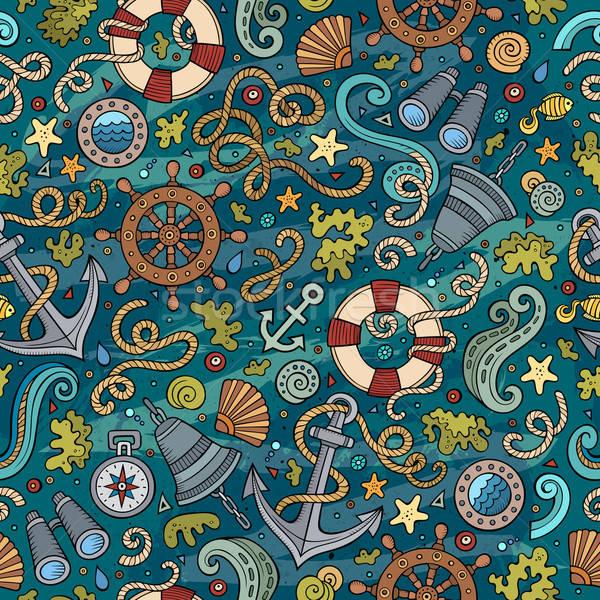 Cartoon morski cute morskich Zdjęcia stock © balabolka