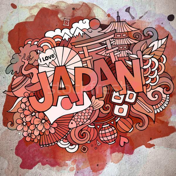 Cartoon вектора рисованной болван Япония иллюстрация Сток-фото © balabolka