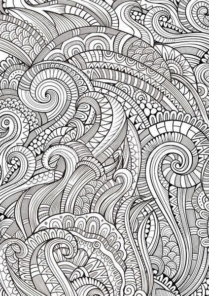抽象 塗鴉 手工繪製 民族 模式 商業照片 © balabolka