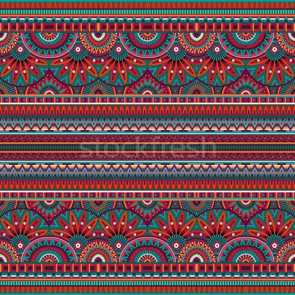 Tribal étnico abstrato vetor flor Foto stock © balabolka