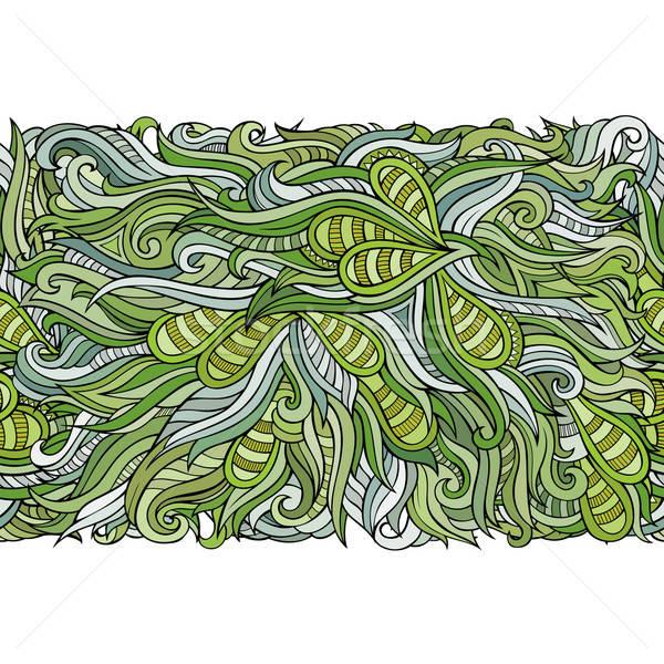 Decorative abstract ornamental seamless pattern Stock photo © balabolka
