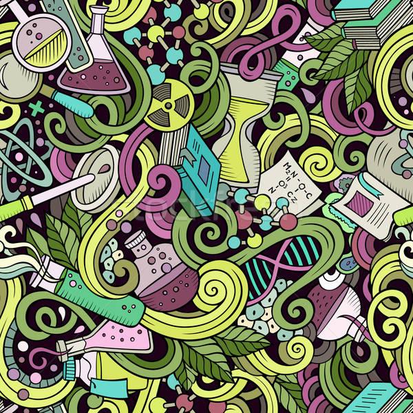 Rajz tudomány firkák végtelen minta részletes tárgyak Stock fotó © balabolka