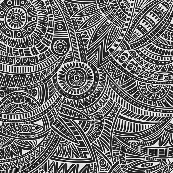 Tribal étnico abstrato vetor esboço Foto stock © balabolka