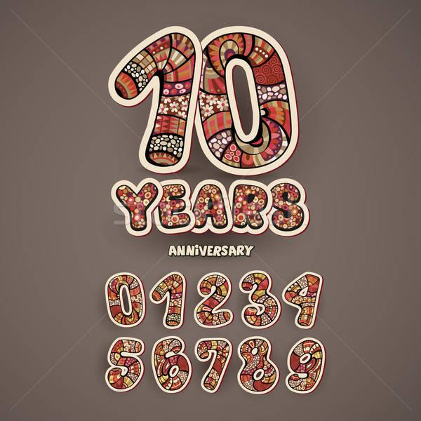 Anniversary numbers set Stock photo © balabolka