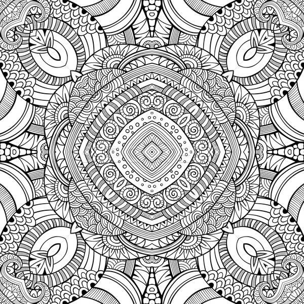 Abstract vector decorative nature ethnic hand drawn pattern Stock photo © balabolka