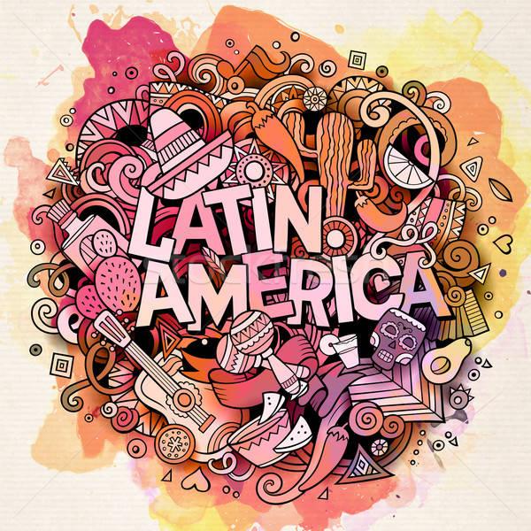 América latina vector dibujado a mano garabato ilustración Cartoon Foto stock © balabolka
