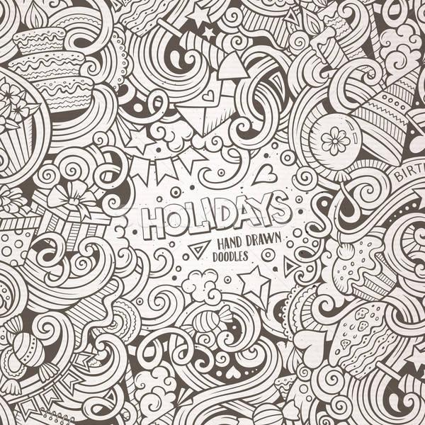 Desenho animado férias ilustração bonitinho Foto stock © balabolka