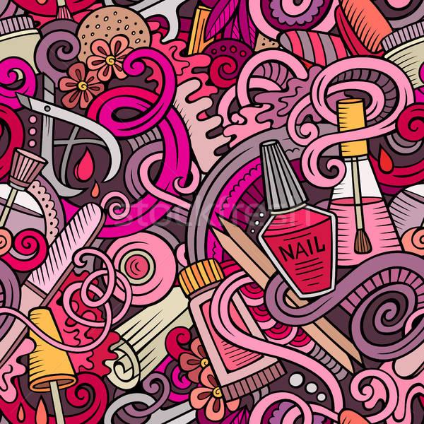 Desenho animado manicure bonitinho Foto stock © balabolka