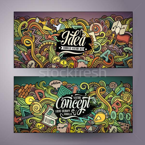 Desenho animado vetor idéia banners Foto stock © balabolka