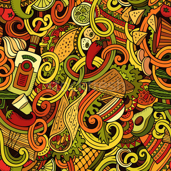 Desenho animado comida mexicana bonitinho Foto stock © balabolka