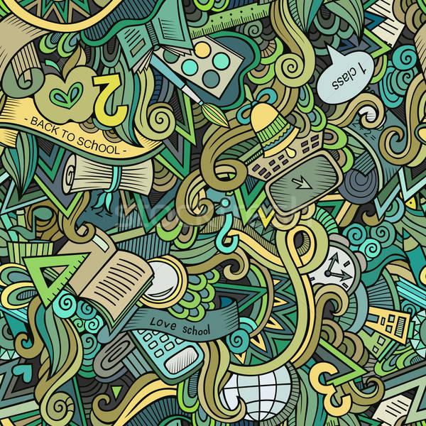 漫畫 可愛 塗鴉 學校 手工繪製 商業照片 © balabolka
