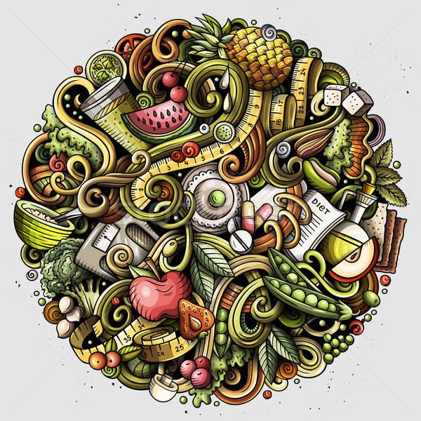 漫画 ベクトル ダイエット 食品 実例 ストックフォト © balabolka