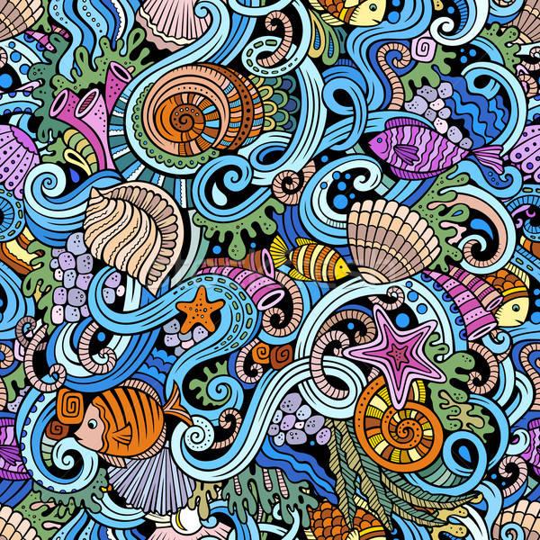Desenho animado água vida colorido Foto stock © balabolka