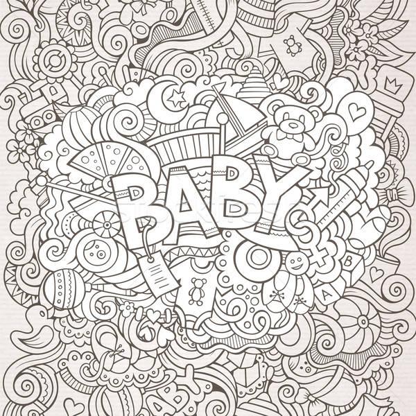 Cartoon vector hand drawn Doodle Baby illustration Stock photo © balabolka