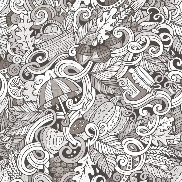漫畫 可愛 塗鴉 秋天 手工繪製 商業照片 © balabolka