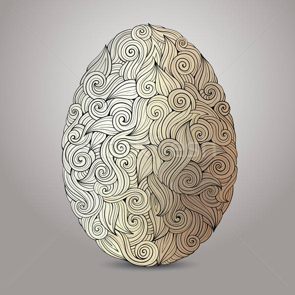 塗鴉 裝飾 復活節彩蛋 抽象 手工繪製 復活節 商業照片 © balabolka