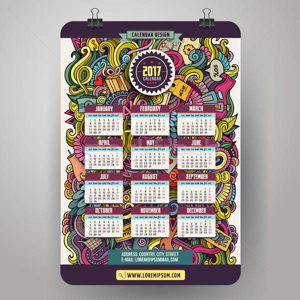 Cartoon продажи год календаря красочный Сток-фото © balabolka
