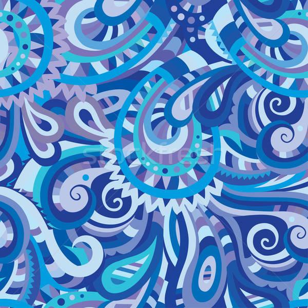 Stock fotó: Dekoratív · virágmintás · végtelen · minta · díszítő · vektor · textúra