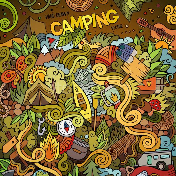 Cartoon scarabocchi campo illustrazione colorato Foto d'archivio © balabolka
