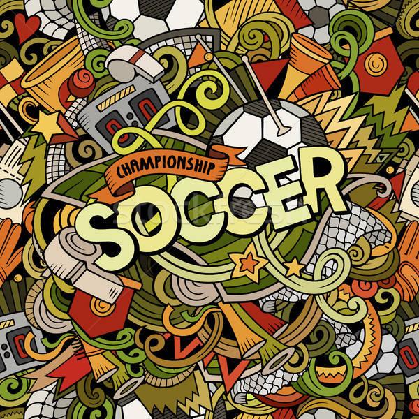 Desenho animado bonitinho futebol ilustração Foto stock © balabolka