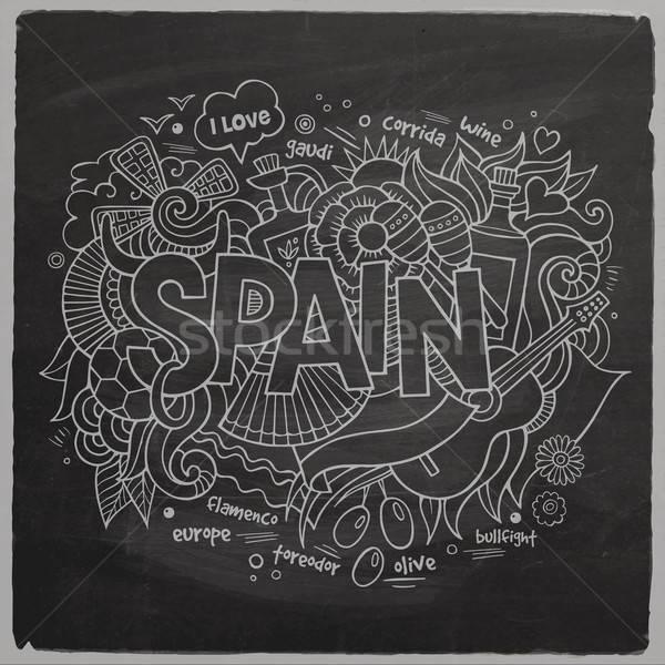 İspanya el karalamalar elemanları müzik sevmek Stok fotoğraf © balabolka