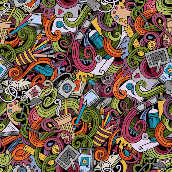 Desenho animado projeto arte colorido Foto stock © balabolka