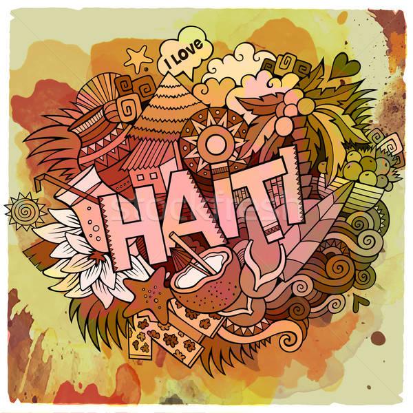 Cartoon vettore doodle Haiti illustrazione Foto d'archivio © balabolka