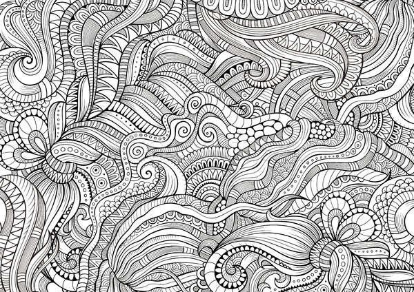 Abstract sketchy decorative doodles hand drawn ethnic pattern Stock photo © balabolka