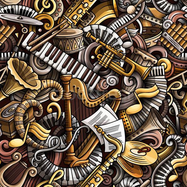 Desenho animado bonitinho música clássica colorido Foto stock © balabolka
